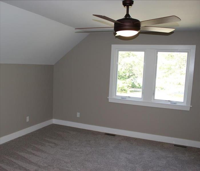 remodeled, all new ceiling, walls, carpeting plus a ceiling fan