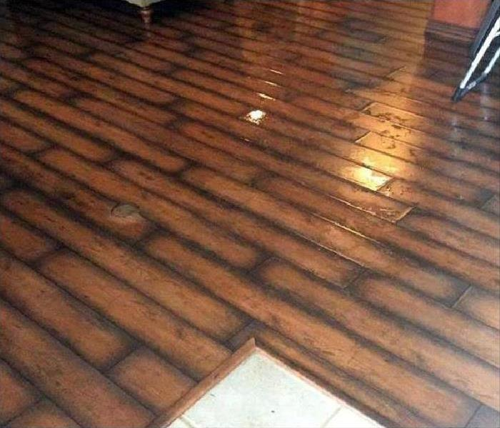 water damaged flooring