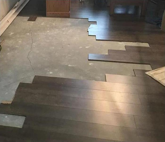 wood flooring being restored