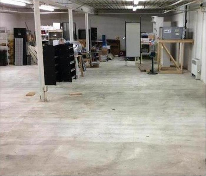cleaned and dried commercial storage area