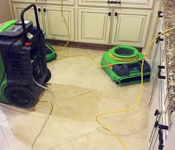 storm caused damage to kitchen floor
