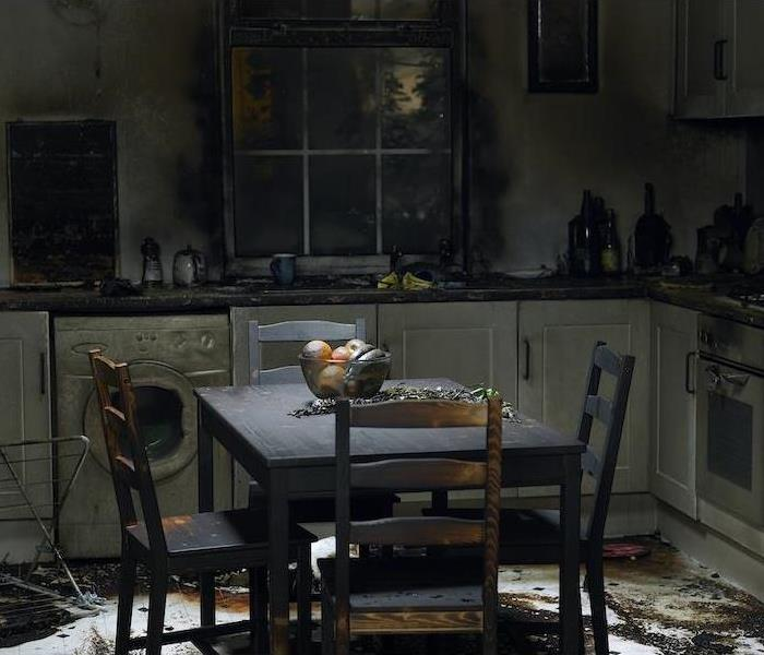 Kitchen after a fire