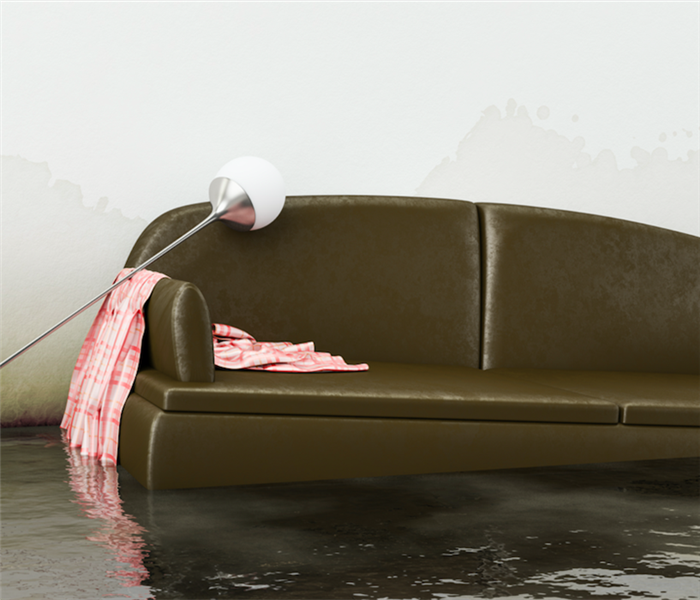Flooded couch